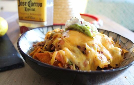 Oh, So Cheesy Slow-Cooked Naughty Nachos!