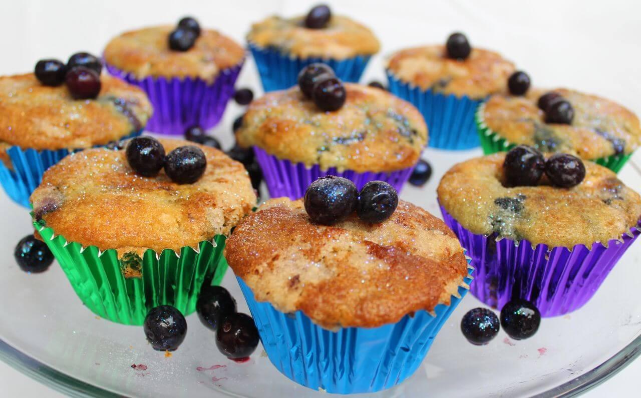 White Chocolate Blueberry-Muff-Crumble